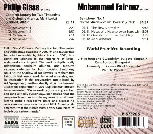 Mohammed Fairouz: In the Shadow of No Towers; Philip Glass: Concerto Fantasy