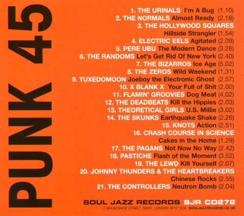 Punk 45: Underground Punk in the United States of America, Vol. 1