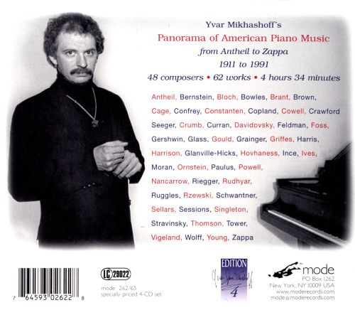 Panorama of American Piano Music: From Antheil to Zappa