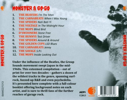 Monster A Go-Go: Teen Trash from Psychedelic Tokyo 1966-1969, Vol. 1