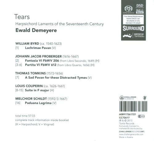 Tears: Harpsichord Laments from the Seventeenth Century
