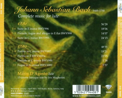 Bach: Complete Music for Lute