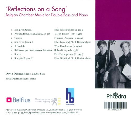 In Flander's Fields, Vol. 79: Reflections on a Song - Belgian Music for Double Bass and Piano