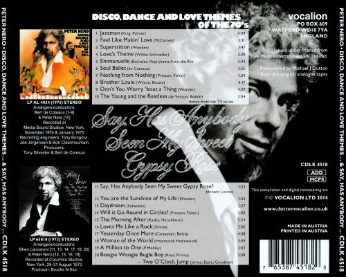 Disco, Dance and Love Themes of the 70's/Say, Has Anybody Seen My Sweet Gypsy Rose
