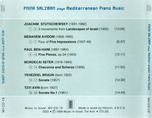 Pnina Salzman plays Mediterranean Piano Music