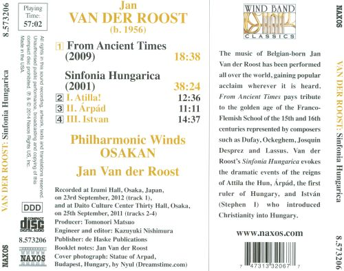 Jan Van der Roost: Sinfonia Hungarica; From Ancient Times