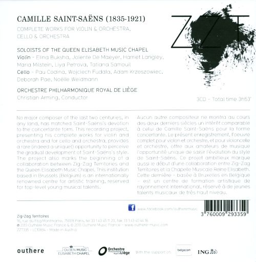 Saint-Saëns: Complete Works for Violin & Orchestra, Cello & Orchestra