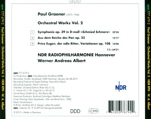 Paul Graener: Orchestral Works, Vol. 2