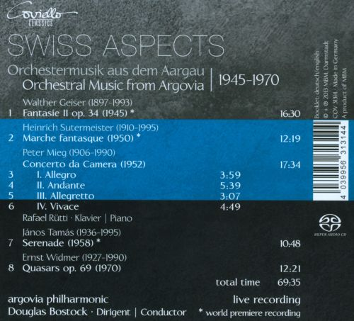 Swiss Aspects: Orchestral Music from Argovia 1945-1970