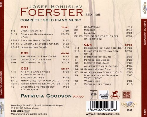 Dreams, Memories and Impressions: The Complete Piano Music of Josef Bohuslav Foerster