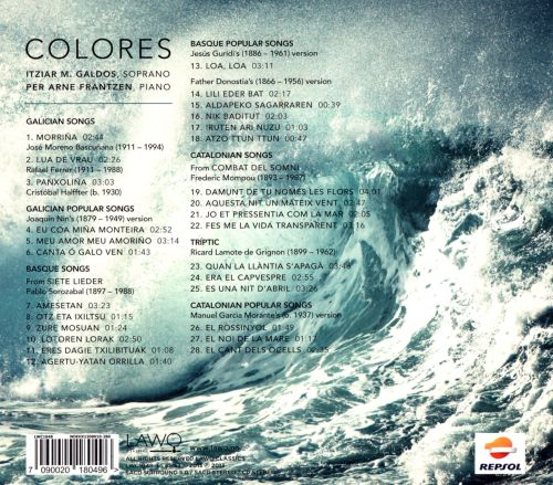 Colores: Galician, Basque and Catalonian Songs