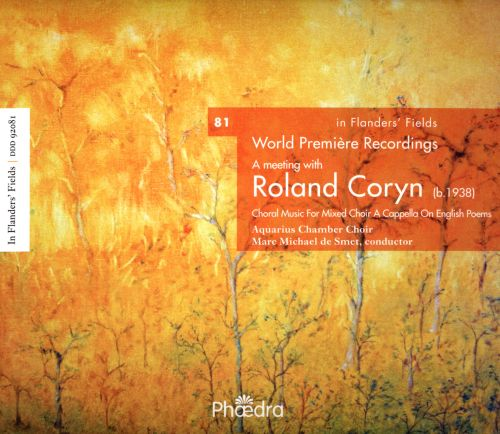 In Flanders' Fields: A Meeting with Roland Coryn