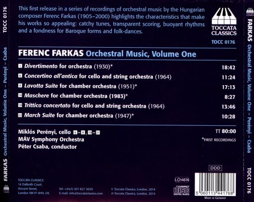 Farkas: Music for Chamber Orchestra
