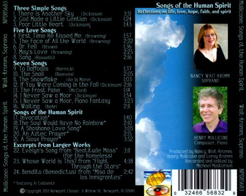 Songs of the Human Spirit: Songs and Arias by Henry Mollicone