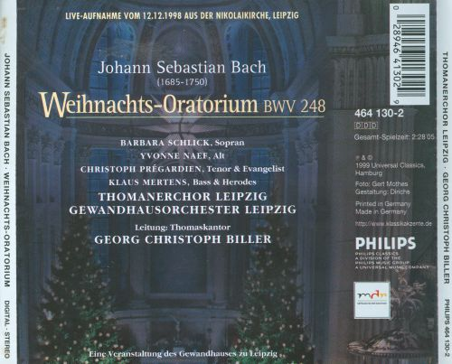 bach weihnachts oratorium germany thomanerchor. Black Bedroom Furniture Sets. Home Design Ideas