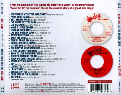 Lay This Burden Down: The Very Best of Mary Love