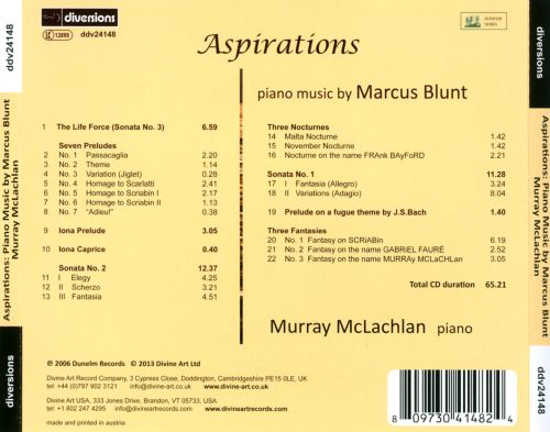 Aspirations: Piano Music by Marcus Blunt