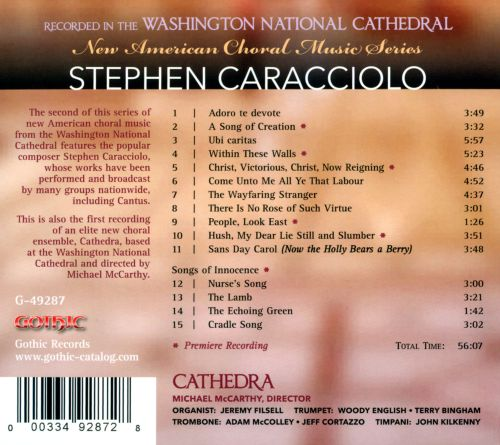 New American Choral Music Series: Stephen Caracciolo