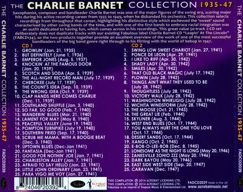 The Charlie Barnet Collection, Vol. 1: 1935-1947