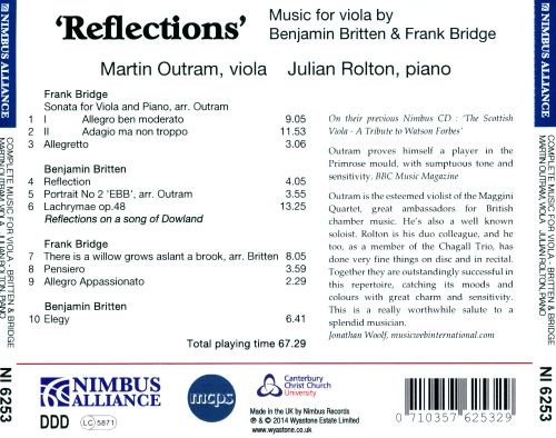 Reflections: Music for Viola