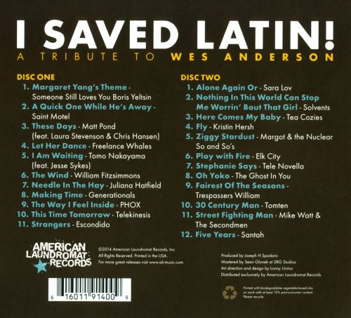 I Saved Latin!: A Tribute to Wes Anderson
