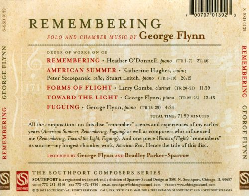 Remembering: Solo and Chamber Music by George Flynn