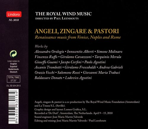 Angeli, Zingare & Pastori: Renaissance Music from Venice, Naples and Rome