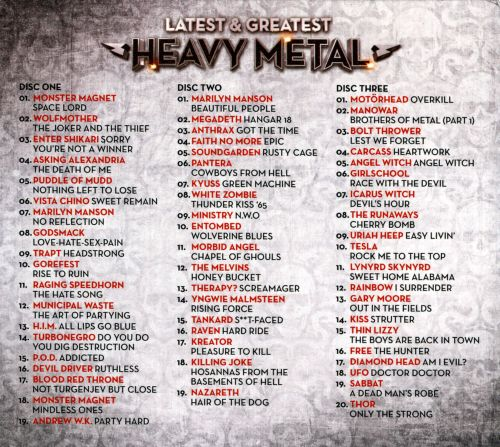 The Top 500 heavy metal songs of all time. The playlist is ...