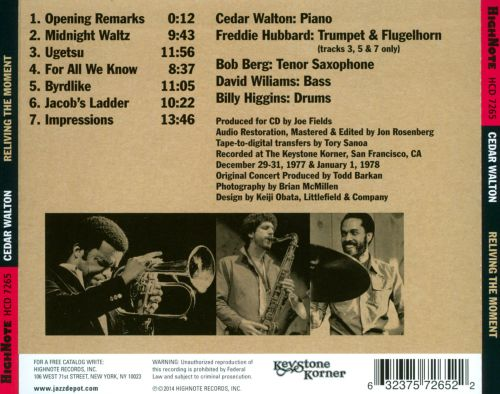 Reliving the Moment: Live at the Keystone Korner