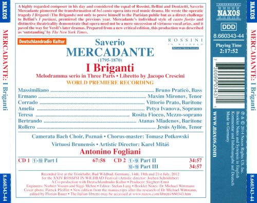 Saverio Mercadante: I Briganti