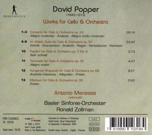 David Popper: Works for Cello & Orchestra