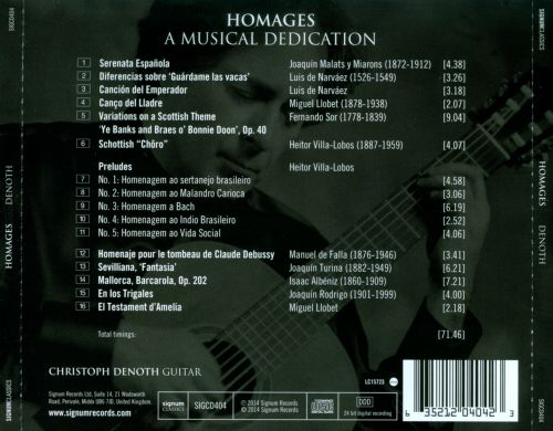 Homages: A Musical Dedication