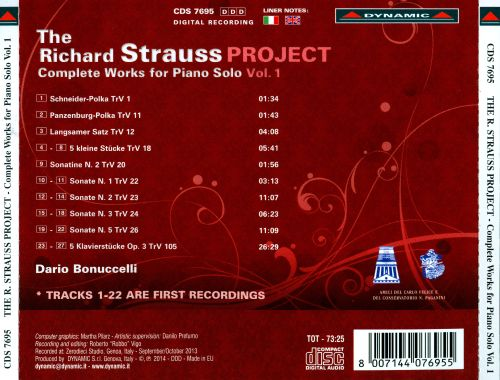 The Richard Strauss Project: Complete Works for Piano Solo, Vol. 1