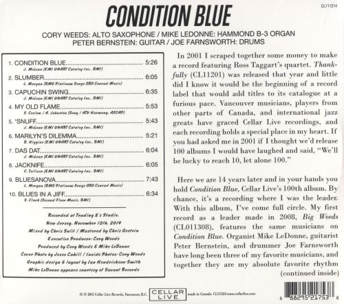 Condition Blue: The Music of Jackie Mclean