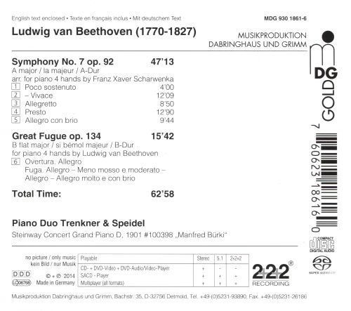 Beethoven: Music for Piano Duo