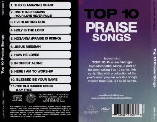 Top 10 Praise Songs