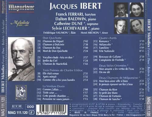 Jacques Ibert: Mélodies