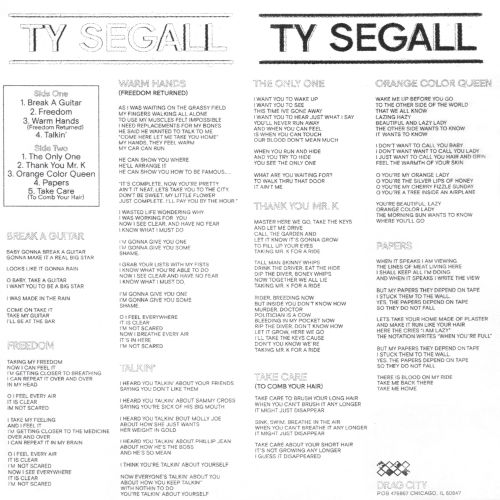Ty Segall [Drag City]