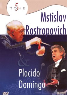 Placido Domingo with Mstislav Rostropovich: Gala Performance