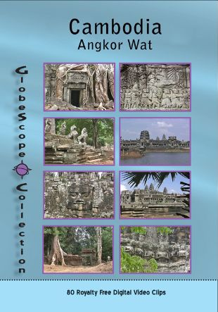 Stock Footage Collections: Cambodia - Angkor Wat Royalty Free Stock Footage