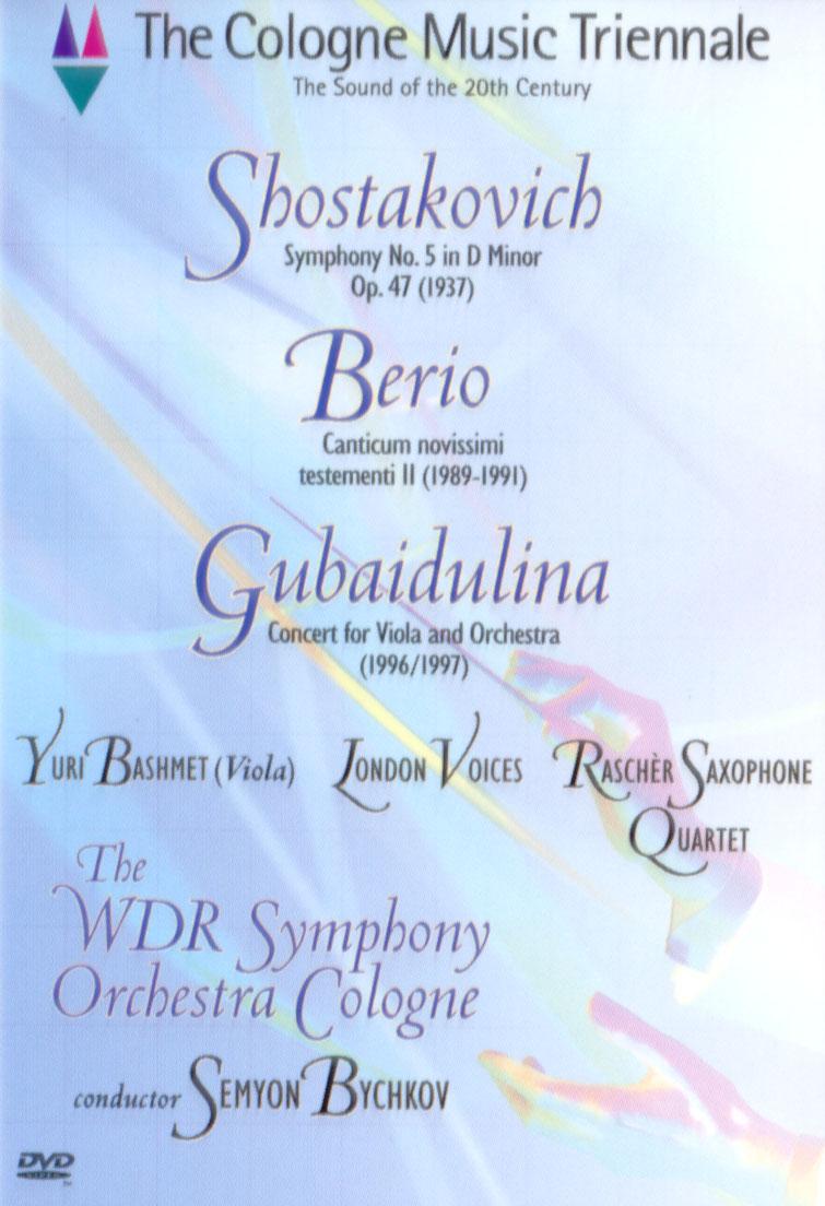 Cologne Music Triennale: Shostakovich/Berio/Sofia
