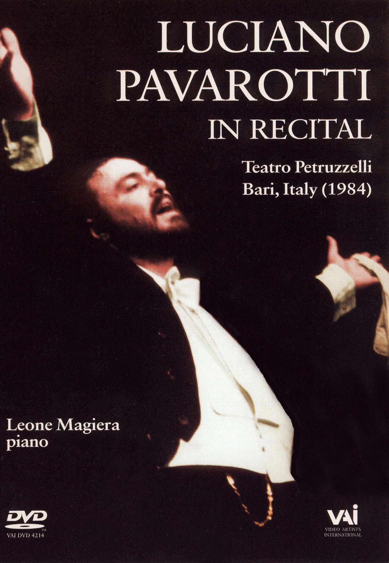 Luciano Pavarotti in Recital: Bari, Italy 1984