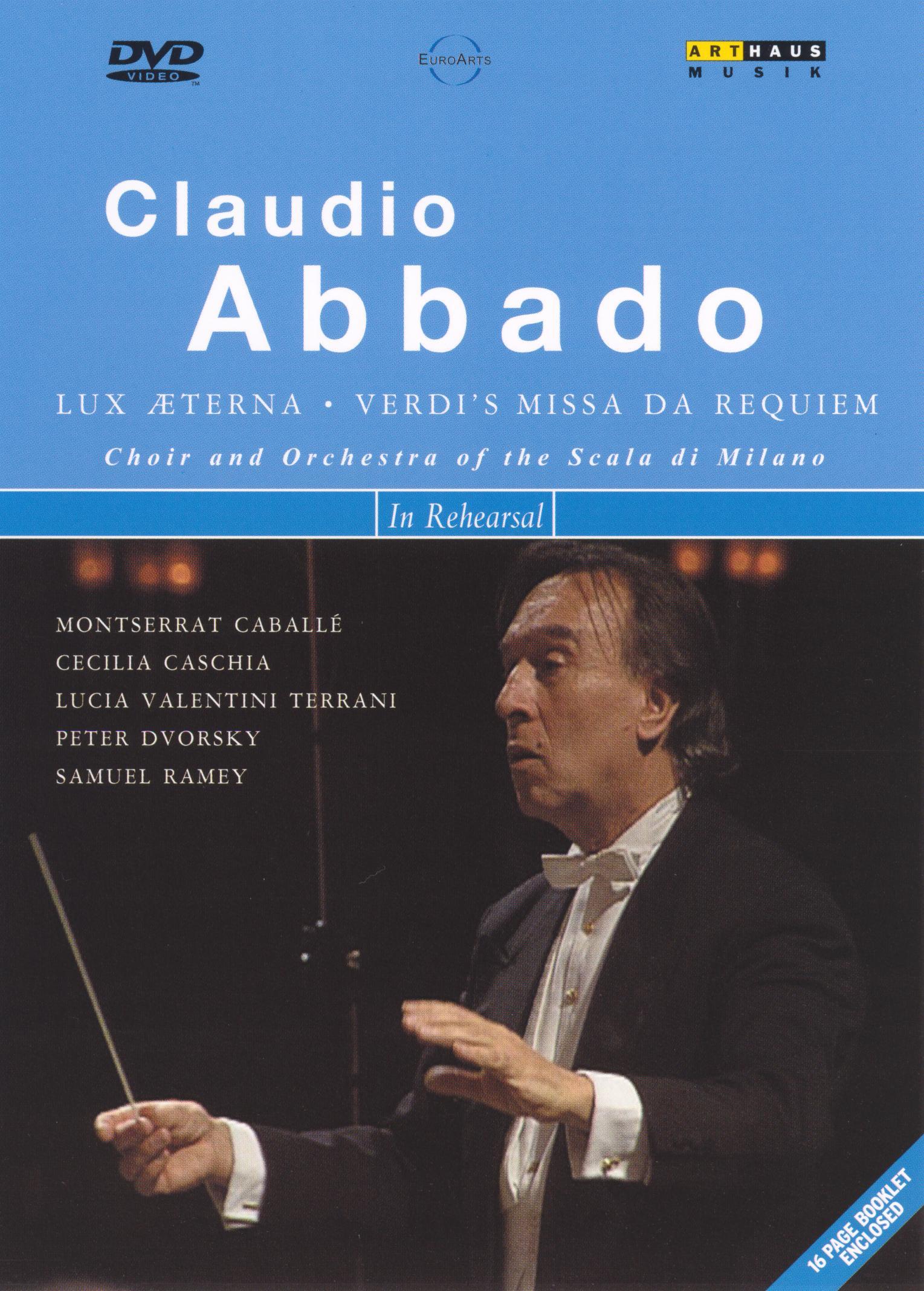 Claudio Abbado in Rehearsal: Verdi's Missa Da Requiem
