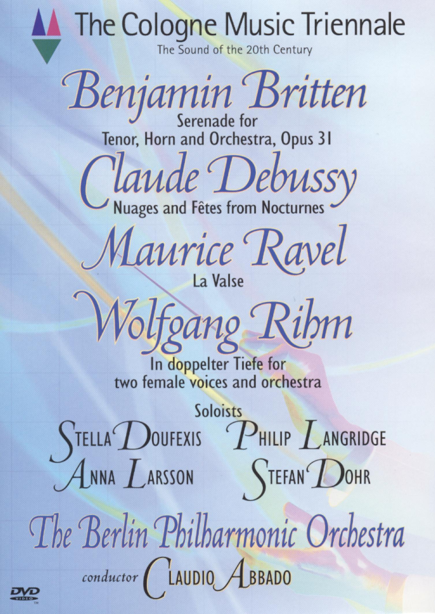 Cologne Music Triennale: Britten/Dedussy/Ravel/Rihm