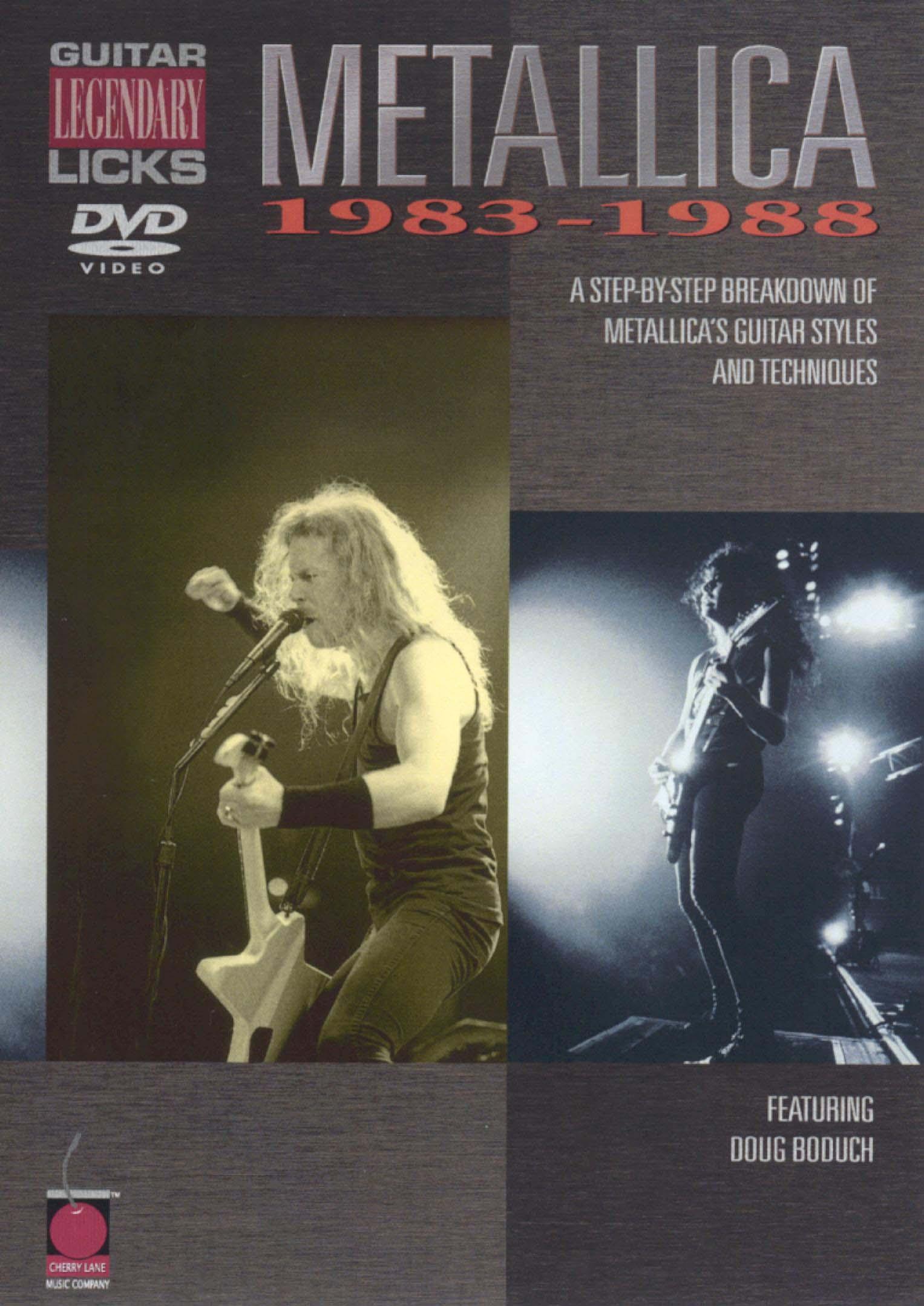 Metallica: Legendary Licks - Guitar, 1983-1988