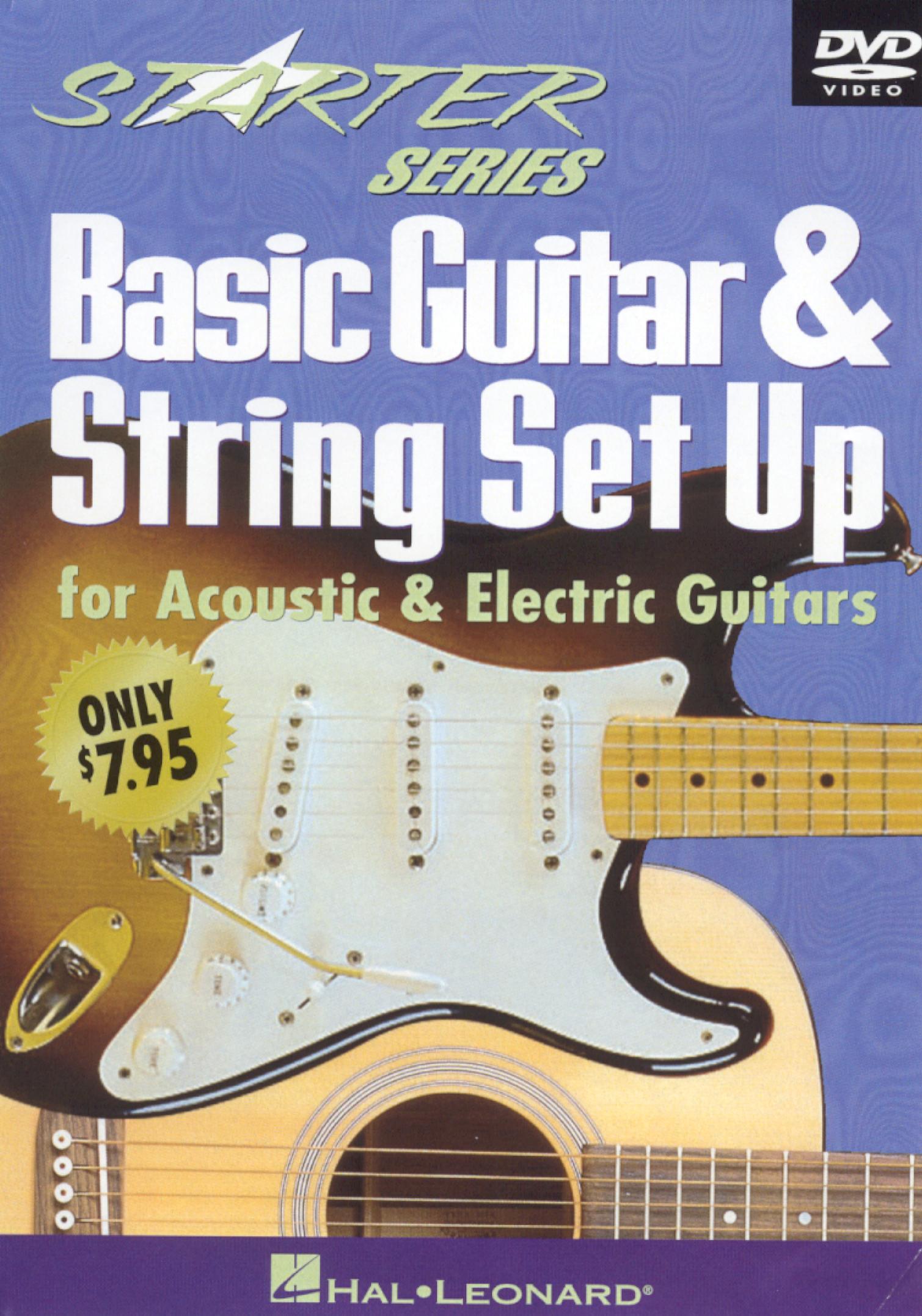 starter series basic guitar string set up for acoustic electric guitars 2000. Black Bedroom Furniture Sets. Home Design Ideas