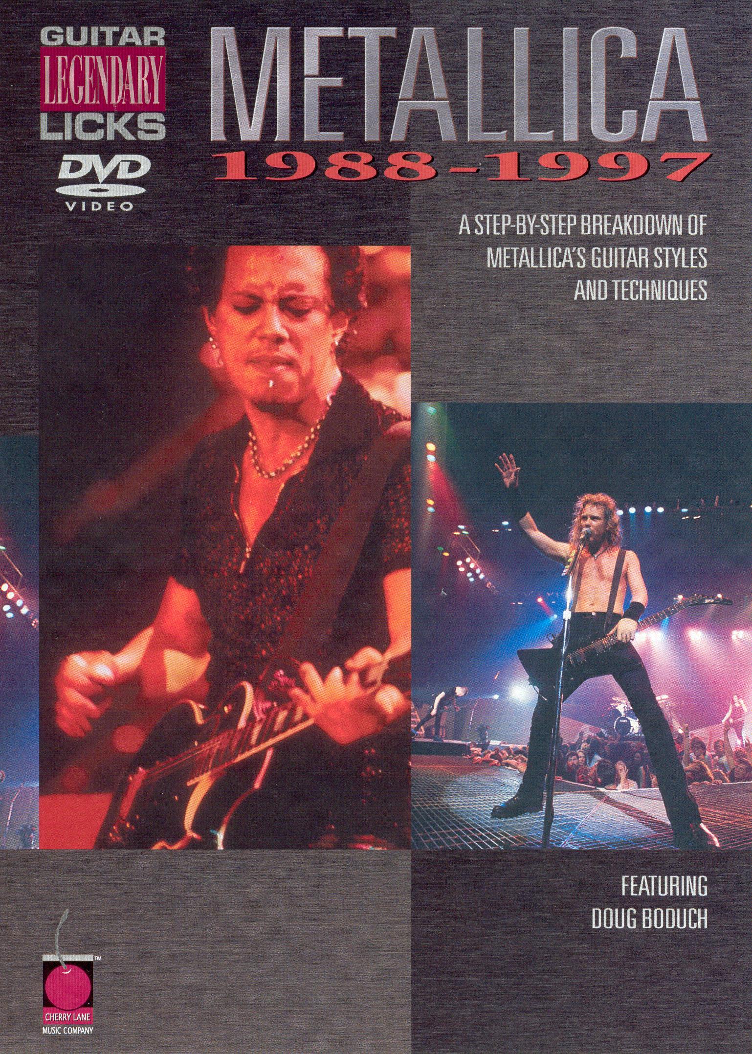 Metallica: Legendary Licks - Guitar, 1988-1997