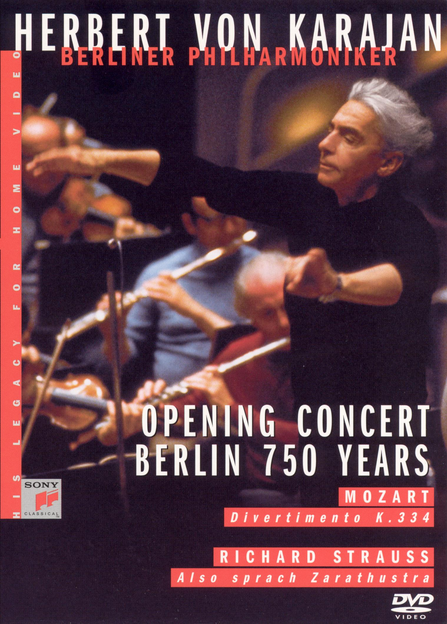 Herbert Von Karajan - His Legacy for Home Video: Opening Concert Berlin - 750 Years