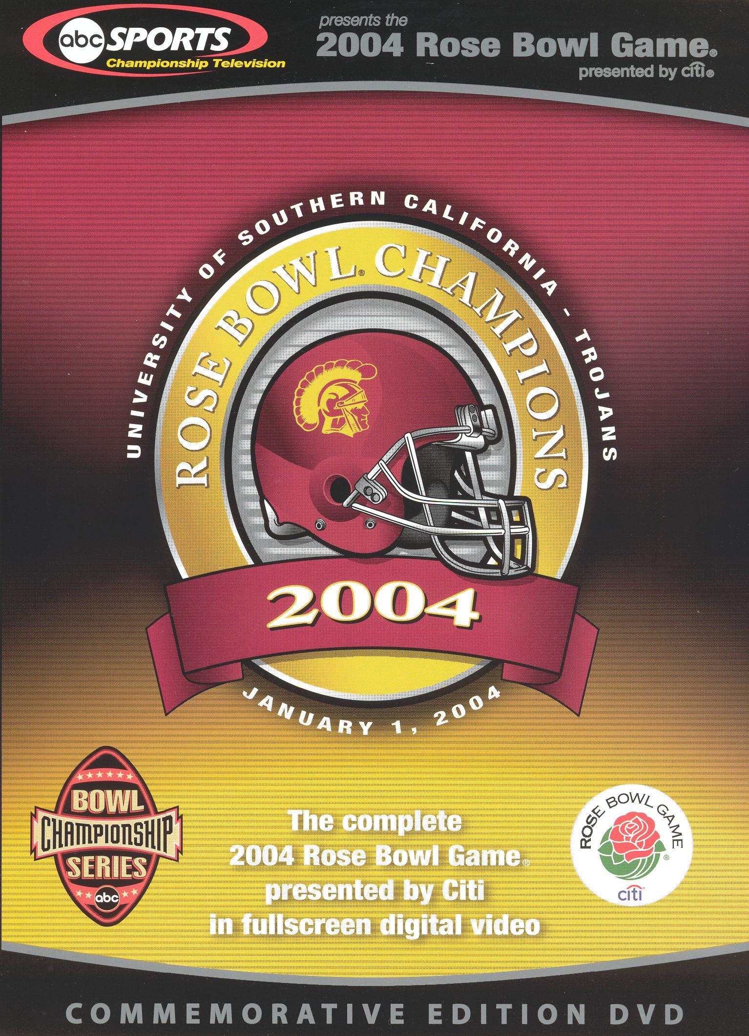 2004 Rose Bowl Champions: University of Southern California - Trojans