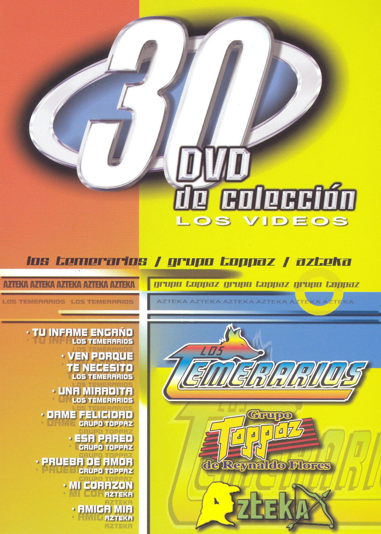 30 DVD De Coleccion: Los Temerarios/Grupo Toppaz/Azteka